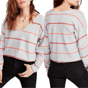 Free People Make You Mine Strip Sweater Large